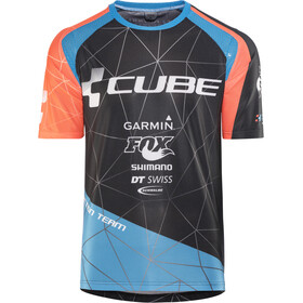Cube Action Team Rundhalstrikot kurzarm Herren black'n'blue'n'flashred